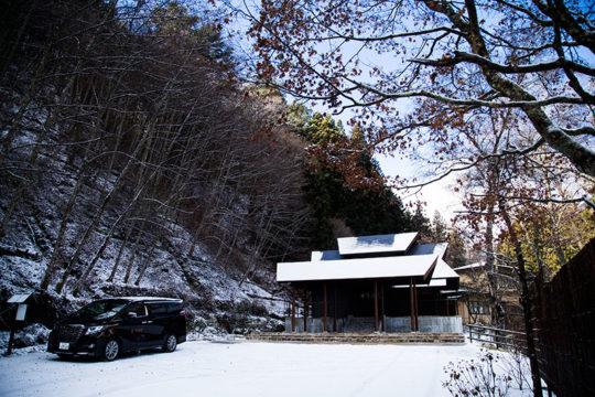 長野県駒ヶ根市 旅館「季澄香」 冬 雪景色
