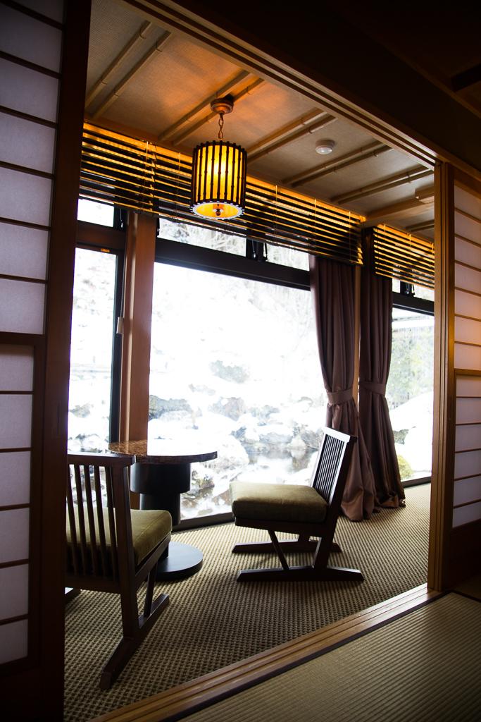 長野県駒ヶ根市 季澄香 客室 雪景色